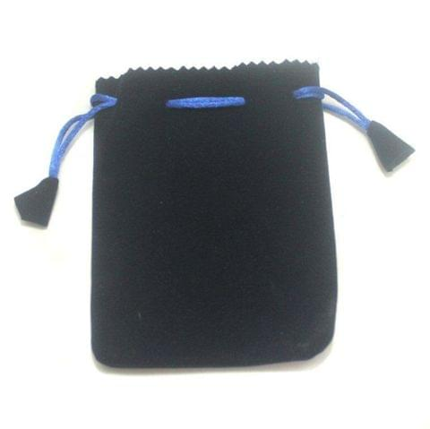 Potli Bags Blue for Jewellery Gift & Craft 15x12cm, Pack of 100 pcs