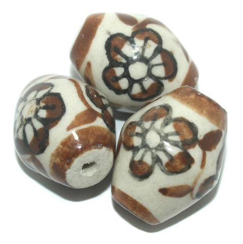10 Pcs. Ceramic Double Cone Beads 32x27 mm