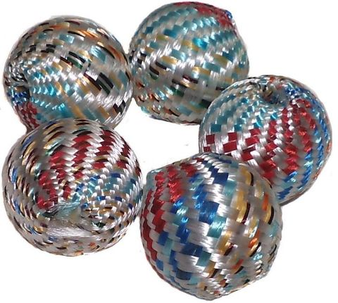 10 Crochet Round Beads Assorted 22 mm
