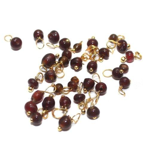 270+ Loreal Beads Dark Red 4 mm