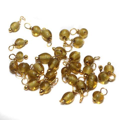 270+ Loreal Beads Golden 4 mm