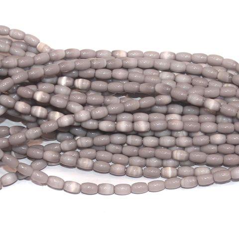 Cat's Eye Oval Beads Violet 4x7mm 10 Strings