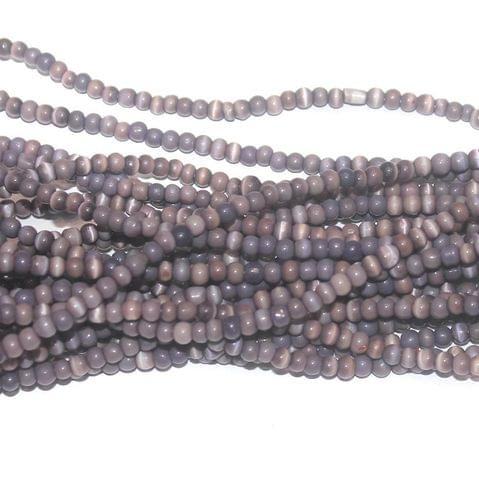 Cat's Eye Round Beads Violet 4mm 10 Strings