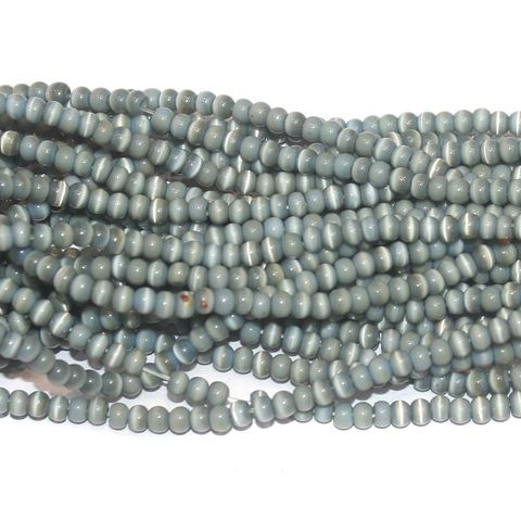 Cat's Eye Round Beads Grey 4mm 10 Strings