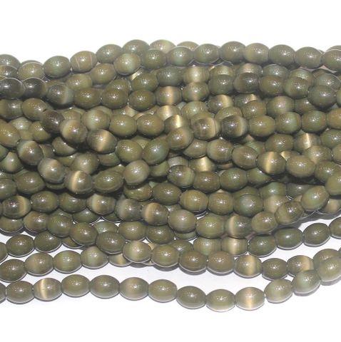 Cat's Eye Oval Beads Mahndi 7x10 mm 10 Strings