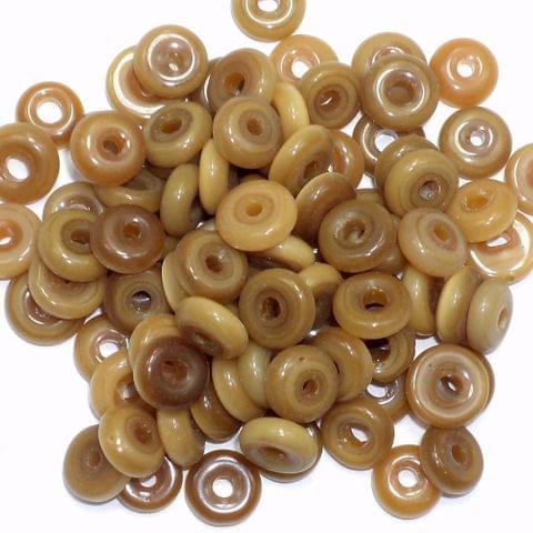 1070+ Cat's Eye Donut Beads Brown 6mm