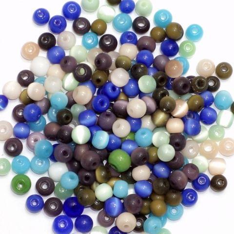 2400+ Cat's Eye Round Beads Assorted 4mm
