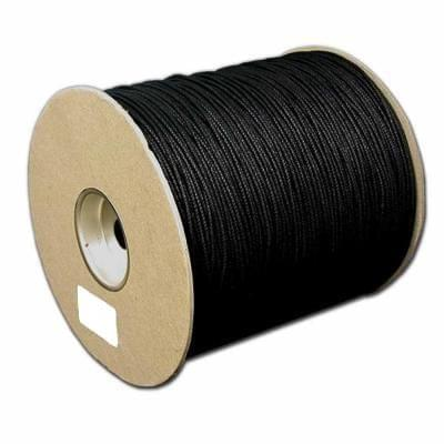 100 Mtrs. Cotton Cord Black 1mm