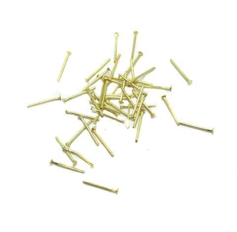 500 Pcs. Brass Golden Head Pins 0.5 Inch