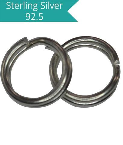 925 Silver 4mm Split Rings