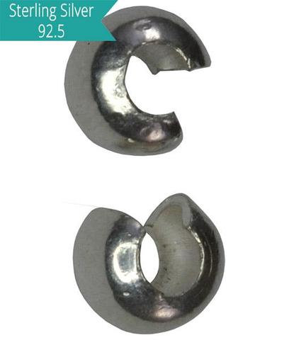 Sterling Silver 4mm Crimp Cover