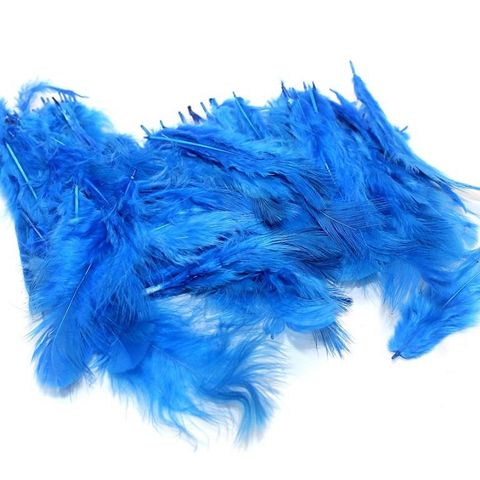 100 Jewellery Making Feather Blue