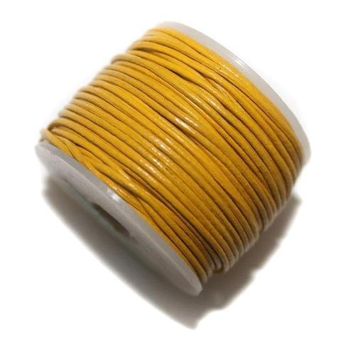 25 Mtr Leather Cord Yellow 1mm