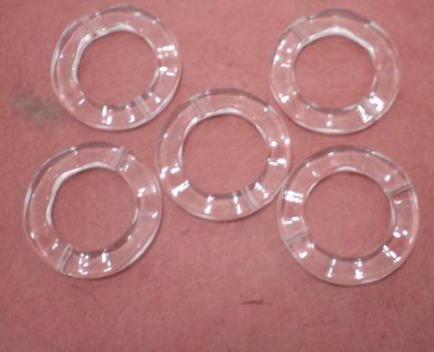 50 Pcs. Acrylic Ring Beads Trans White 33mm