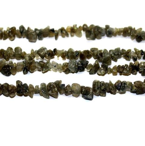 300+ Stone Uncut Beads Olive Green Rainbow 5-8mm