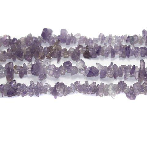 300+ Stone Uncut Beads Light Amethyst 5-8mm