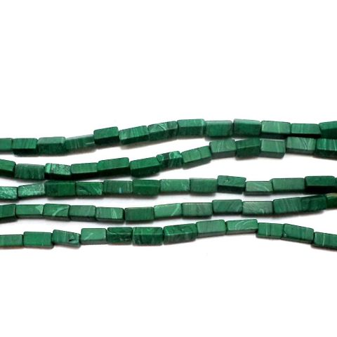 1 Strings Howlite Rectangle Beads Green 6x4 mm
