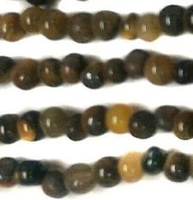 1 Strings Semiprecious Stone Round Beads Tiger Eye 3 mm