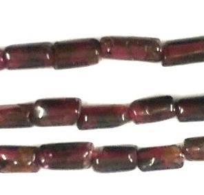 1 Strings Semiprecious Stone Tube Beads Garnet 5x3mm