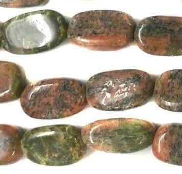 1 Strings Semiprecious Stone Flat Oval Beads Brown 11x6 mm