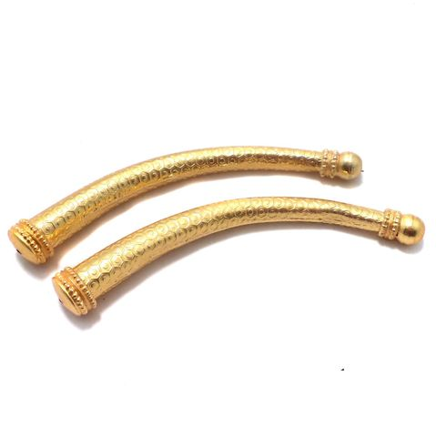 2 Pcs. German Silver Golden Tube/Pipe 112x14 mm