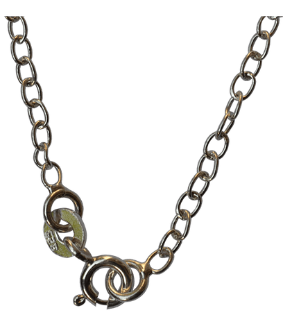 Sterling Silver Oval Link Chain-40 Cms