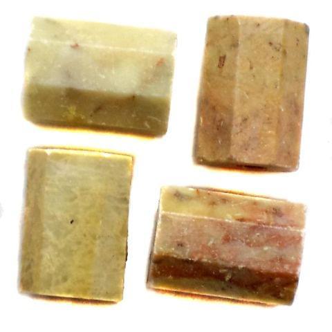 13 Pcs. Soap Stone Barrel Beads 13x10 mm
