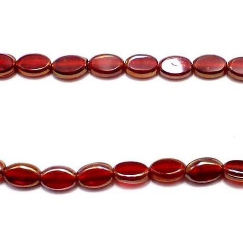 Red Window Metallic Lining Beads