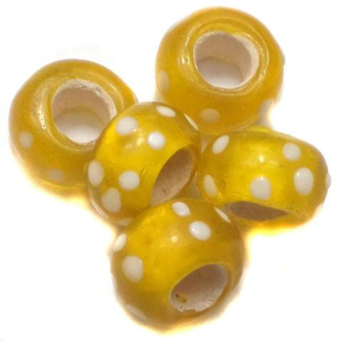 20 Pandora Beads Yellow 8x14mm