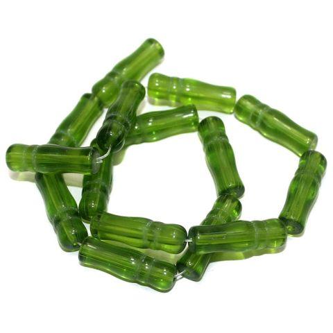 5 Strings Glass Beads Imam Peridot 8X24 mm