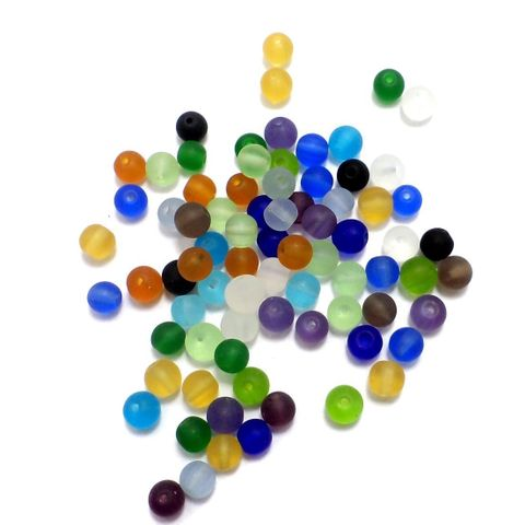 850+ Crackle Round Beads Assorted 6mm