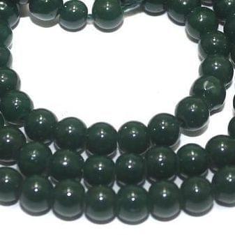 Jaipuri Beads Dark Green Round 5 Strings 4mm