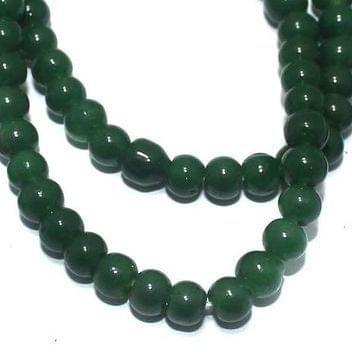 Jaipuri Beads Light Green Round 5 Strings 4mm