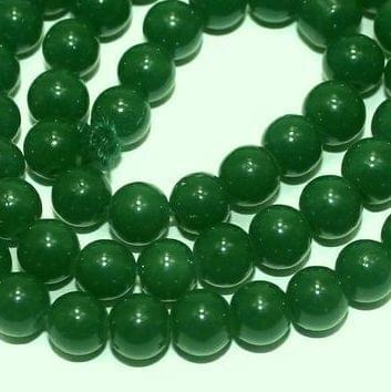 5 Strings of Jaipuri Round Beads Light Green 6mm