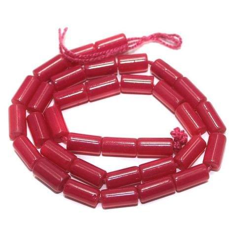 Jaipuri Beads Pink Tube 5 Strings 8x4mm