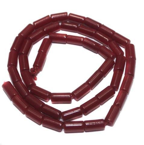 Jaipuri Beads Red Tube 5 Strings 8x4mm