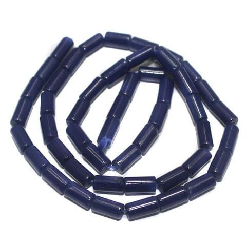Jaipuri Beads Blue Tube 5 Strings 8x4mm