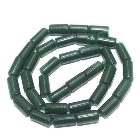 Jaipuri Beads Green Tube 5 Strings 8x4mm