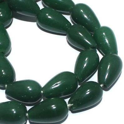 Jaipuri Beads Light Green Drop 5 Strings 15x10mm