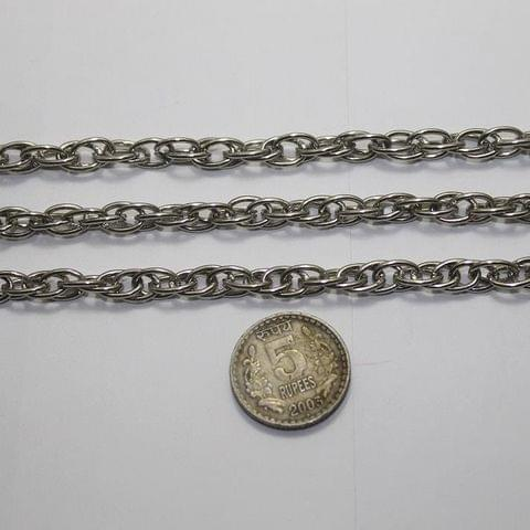 Metal Chain Silver Finish 1 Mtr.