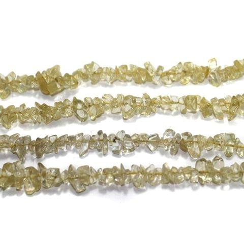 220+ Glass Chips Light Olive Green 5-8mm