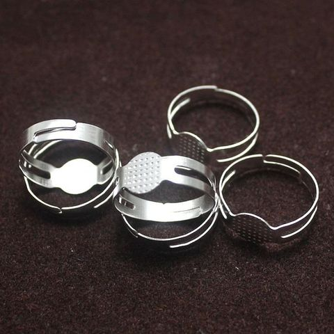 20 Finger Ring Base Silver Free Size