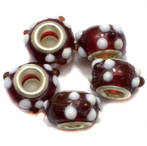 20 Pandora Beads Red 8x14mm