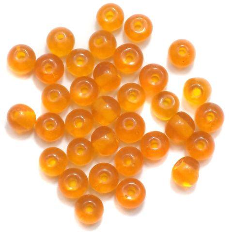 800+ Glass Round Beads Orange 4mm