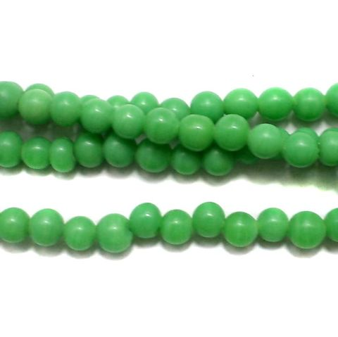 5 strings Glass Round Beads Peridot 4mm