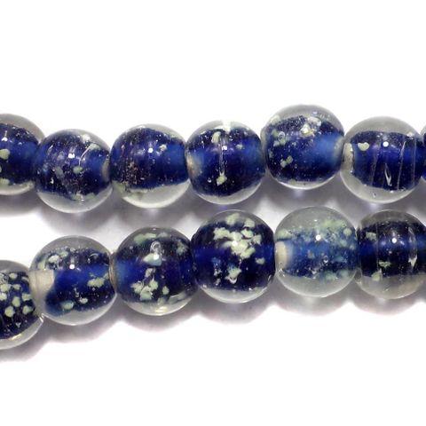5 strings Radium Round Beads Blue 10mm