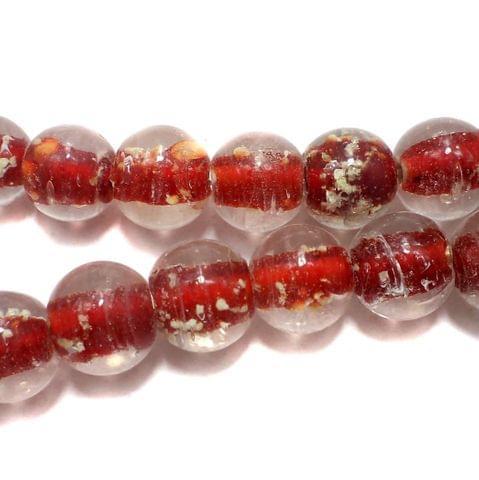 5 strings Radium Round Beads Red 12mm