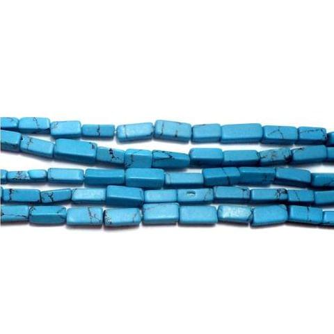 1 Strings Howlite Rectangle Beads Turquoise 5x2mm