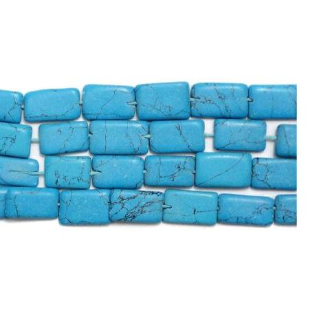 1 Strings Howlite Rectangle Beads Turquoise 10x6mm