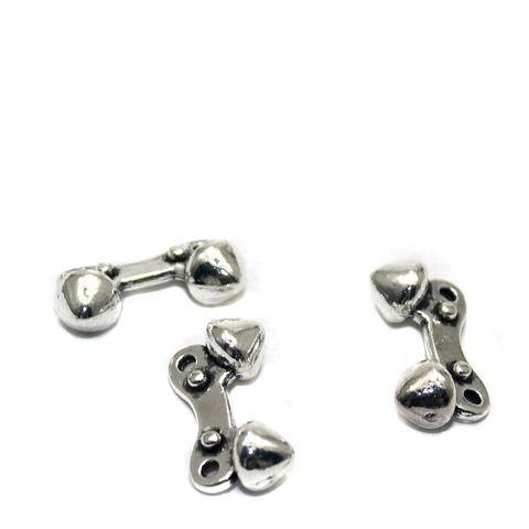 20 German Silver Beads 18x9mm